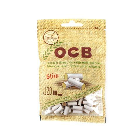 Сигаретные фильтры OCB SLIM UNBLEACHED 150 шт