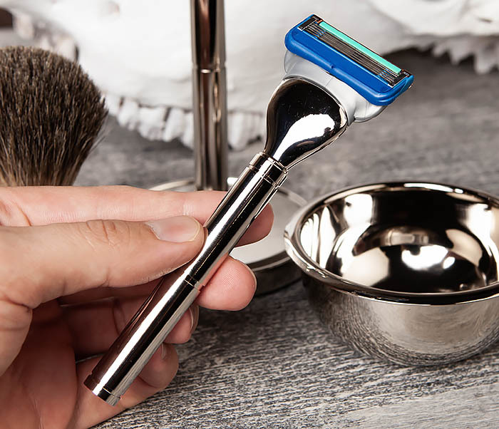 RAZ405 Набор для бритья: чаша, помазок, безопасная бритва фото 07