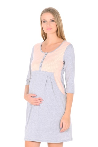 Платье 09985 серый меланж