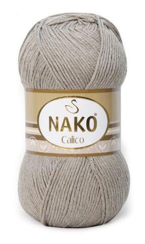 Пряжа Nako Calico какао 10693