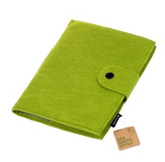 Бизнес-блокнот, Lejoys, Felt, на спирали, зеленый, А5 210*150 мм