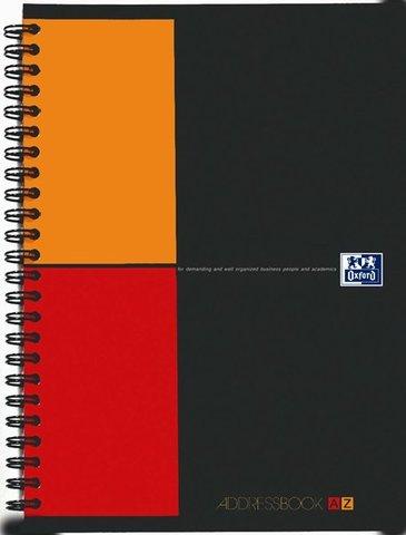 Адресная книга Oxford International Address book A5 (15*21.5см) 80л двойная спираль пластиковая обложка