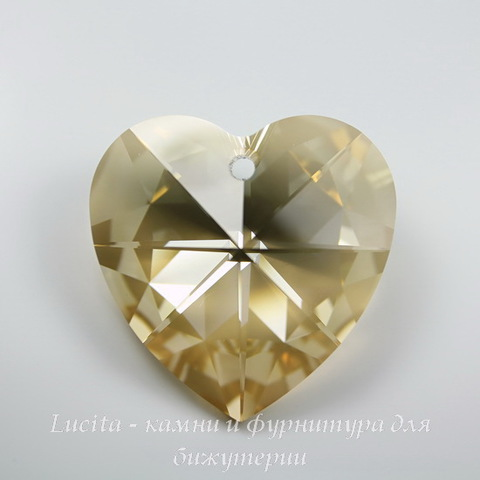 6228 Подвеска Сваровски Сердечко Crystal Golden Shadow (14,4х14 мм)