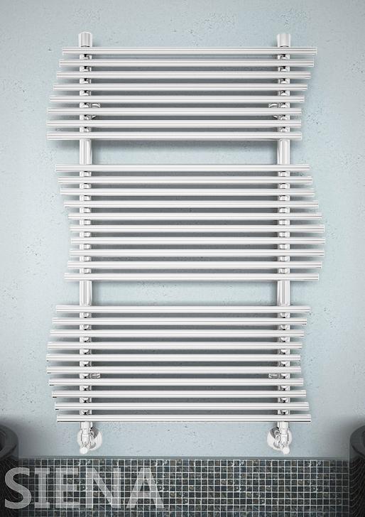 Siena  - водяной  дизайн  полотенцесушитель белого цвета.