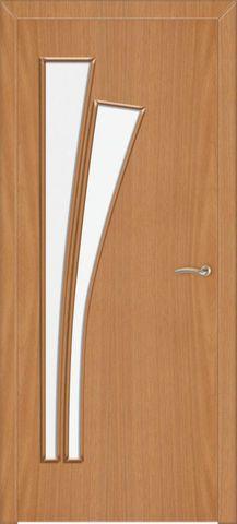 Дверь Сибирь Профиль Лагуна (С-7), цвет миланский орех, остекленная