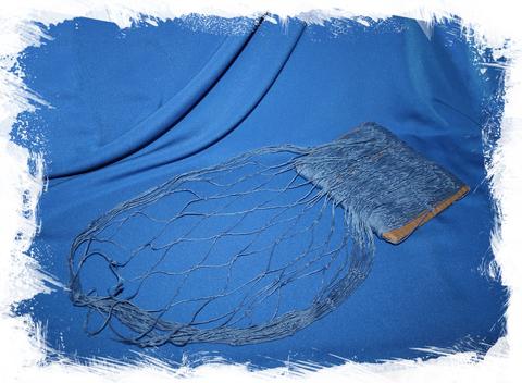 Сеть морская декоративная 100х200 см. синяя