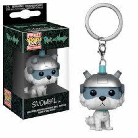 Брелок Рик и Морти Снежок || POP! Keychain Rick and Morty Snowball