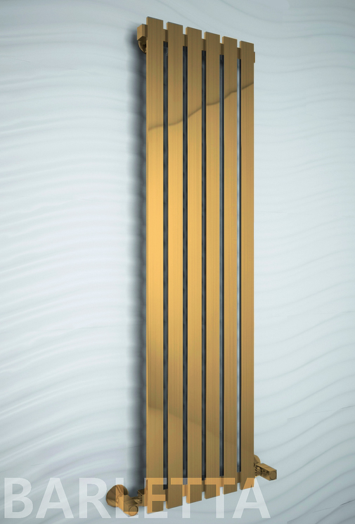 Barletta Bronze - бронзовый дизайн полотенцесушитель с прямоугольными вертикалями.