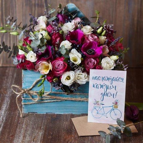 """НАБОР: """"Любовное послание в конверте"""" с топпером и открыткой"""