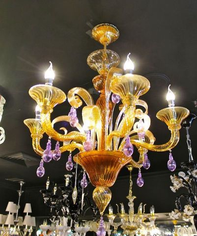 murano chandelier  SYLCOM 12-24  by Arlecchino Arts ( HK)