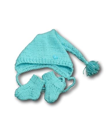 Комплект с шапкой - Бирюзовый. Одежда для кукол, пупсов и мягких игрушек.