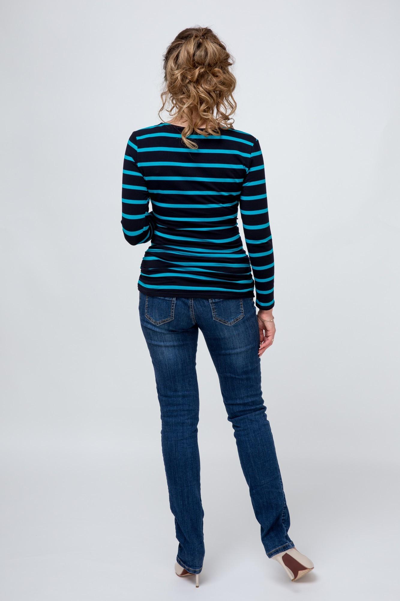 Блузка  08916 темно-синий