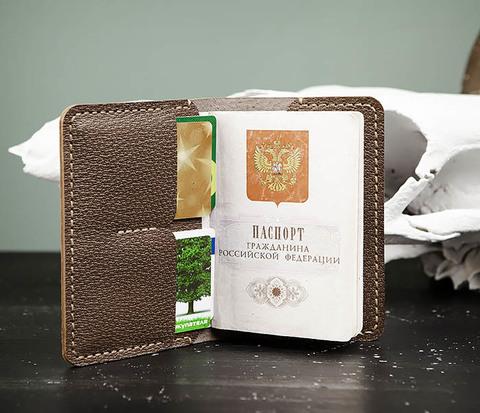 WB175 Обложка для паспорта и карточек ручной работы