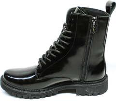 Мартинсы черные женские зимние Ari Andano 740 All Black.