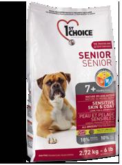 1st Choise Корм для пожилых собак всех пород, 1st Choice Senior, для здоровья кожи и шерсти, с ягненком, рыбой и рисом. chienk_177x240.png