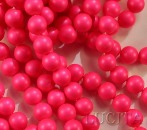 5810 Хрустальный жемчуг Сваровски Crystal Neon Pink круглый 10 мм (Картинка8)