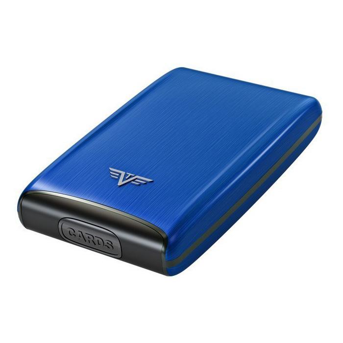 Визитница c защитой Tru Virtu RAZOR, цвет светло-синий, 104*68*20 мм