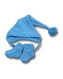 Комплект с шапкой - Голубой. Одежда для кукол, пупсов и мягких игрушек.