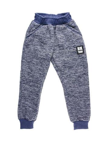 BK1155B брюки для мальчиков утепленные, синие