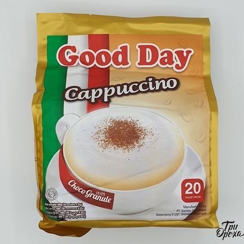 Кофе растворимый Капучино с сахаром и шоколадной крошкой (20пак.*25гр.) GOOD DAY, 500 гр