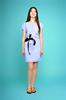Платье Арина голубые полосы