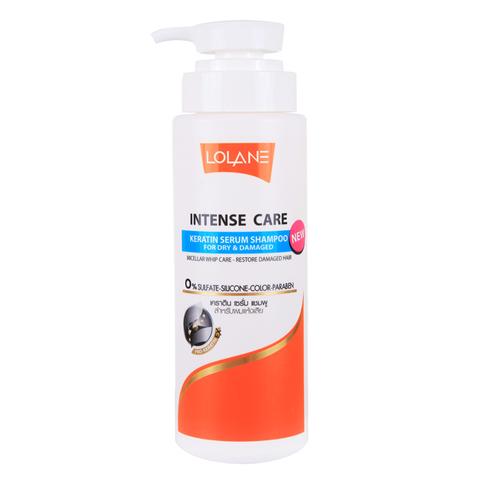 Шампунь для поврежденных  волос Lolane Intense Care Keratin Serum 400 мл.