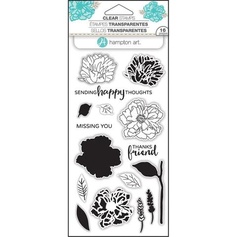 Набор штампов Hampton Art Layering Clear Stamps- Flower Happy