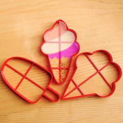 Мороженое в рожке форма для пряника