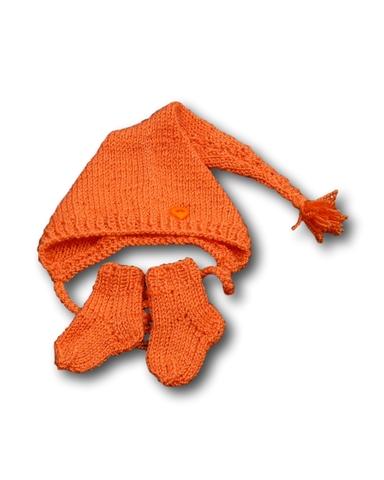 Комплект с шапкой - Красный. Одежда для кукол, пупсов и мягких игрушек.