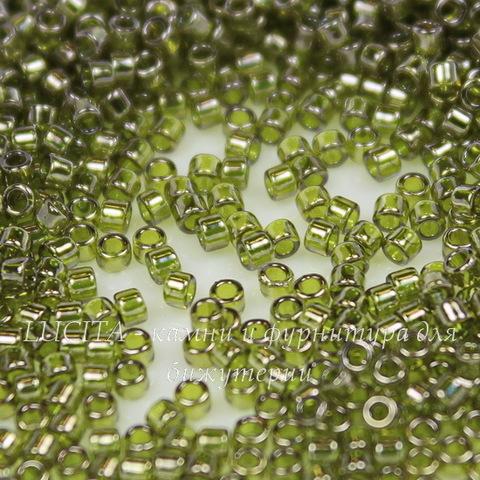 0457 Бисер японский TOHO Treasure 11/0, зеленый с золотым блеском