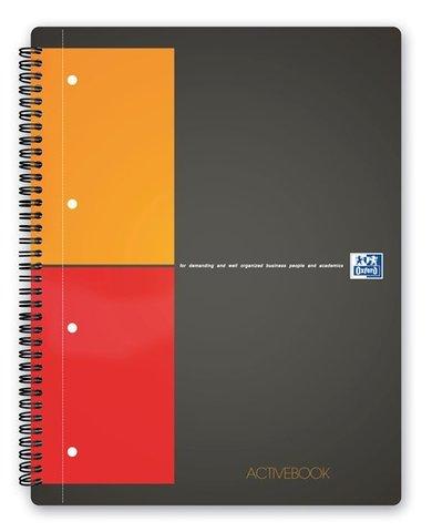 Бизнес-тетрадь International ActiveBook A4+ (24.8*29.7см) клетка 80л пластиковая обложка