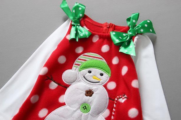 Платье детское праздничное для девочки Снеговик