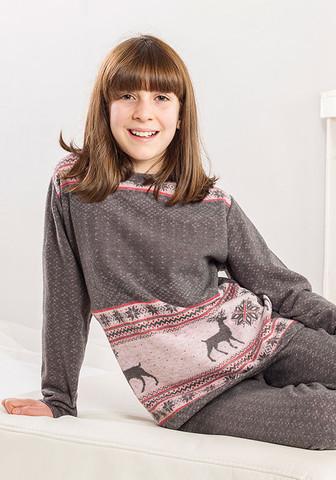 Теплая домашняя одежда для девочки