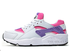 Кроссовки Женские Nike Air Huarache White Pink Violet