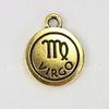 "Подвеска TierraCast знак зодиака ""Дева"" (цвет-античное золото) 19х15 мм"