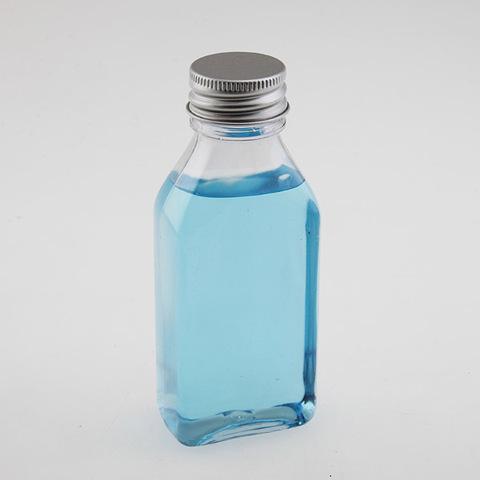 Бутылка плоская прямоугольная, с алюминиевой крышкой