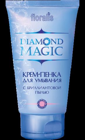 Floralis Diamond Magic Крем-пенка для умывания с бриллиантовой пылью 140г
