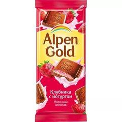 """Шоколад """"Alpen Gold"""" клубника с йогуртом 90 г"""