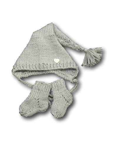 Комплект с шапкой - Серый. Одежда для кукол, пупсов и мягких игрушек.