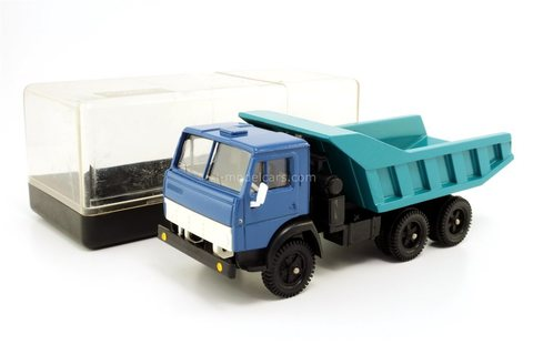 KAMAZ-5511 blue-turquoise (clear box) Elecon Arek Made in USSR 1:43