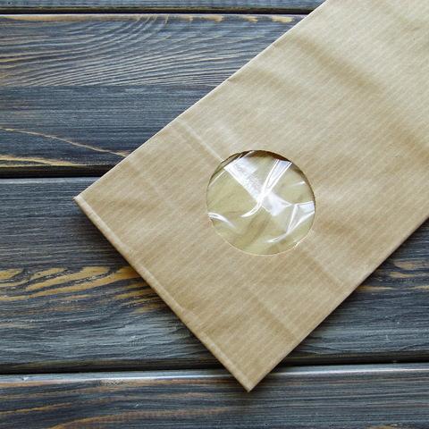 Крафт-пакет с круглым окошком (9*24*5см)