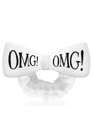 Бант-повязка для фиксации волос во время косметических процедур, белый Double Dare OMG! HAIR BAND-white