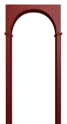 Арка межкомнатная ПВХ Лесма, Милано, цвет красный клён