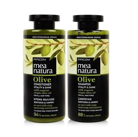 Натуральный Шампунь и кондиционер  Mea natura для всех типов волос