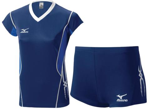 Волейбольная форма Mizuno Premium женская синяя 14-15