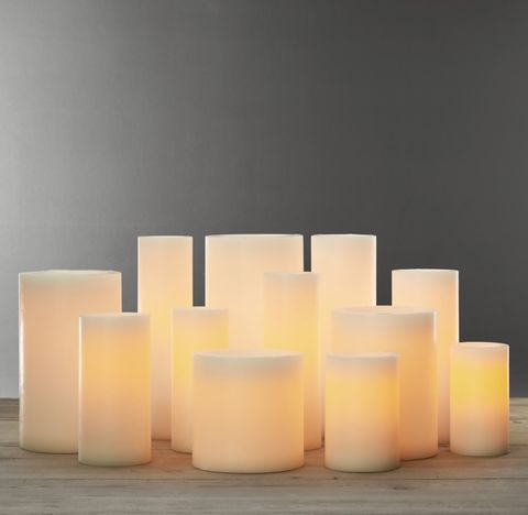 Battery-Operated Wax Flameless Pillar Candle