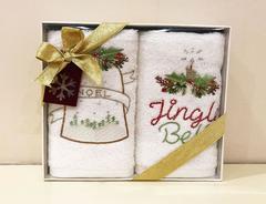 Набор махровых салфеток Новый год BELL 2пр 30х50  Tivolyo Home Турция