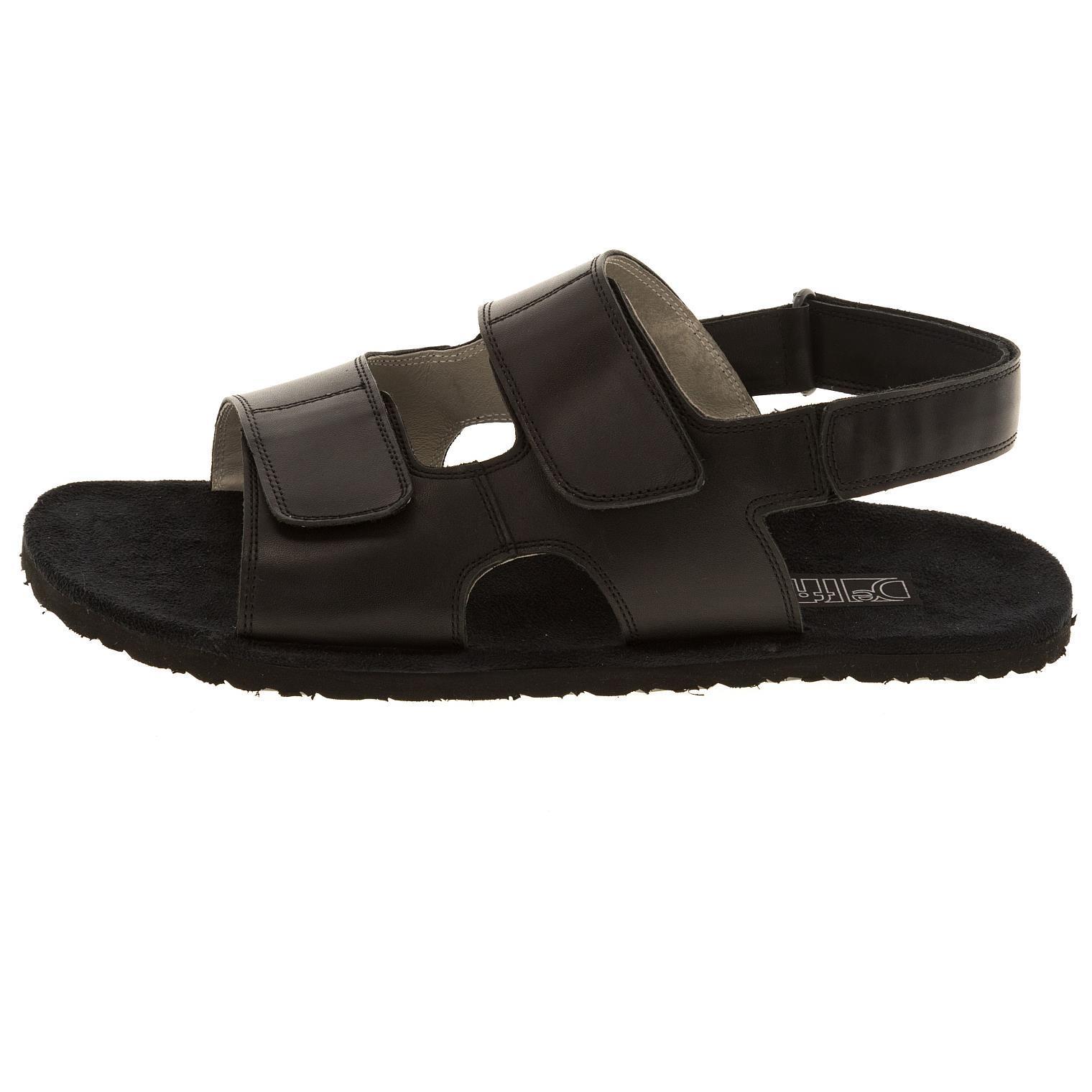 579157 сандалии мужские черные больших размеров марки Делфино
