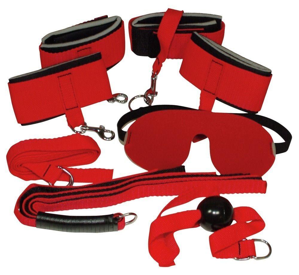 Эротические наборы: Ярко-красный набор для страстных игр