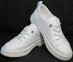 Красивые летние туфли кроссовки повседневные женские El Passo sy9002-2 Sport White.